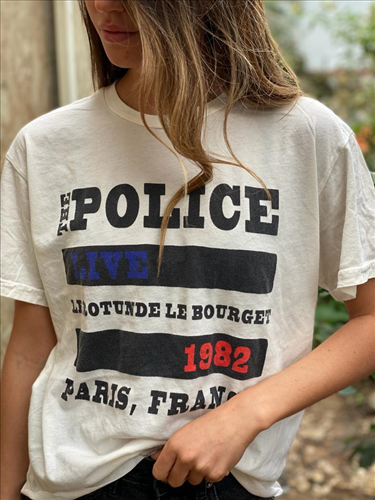 POLICE  LABEL TEE